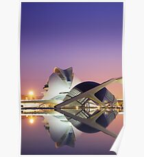 Valencia Hemisphere in the morning Poster