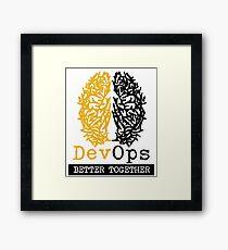 DevOps Better Together Framed Print