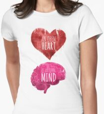 Open Heart, Open Mind Womens Fitted T-Shirt
