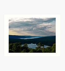 Hills of Quabbin Reservoir Art Print
