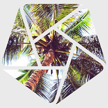 Palm Tree Geometric Summer Design by ddtk