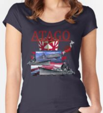 Atago cruiser Women's Fitted Scoop T-Shirt