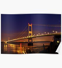 Severn Bridge from Beachley Poster