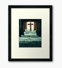 At the Cross Framed Print