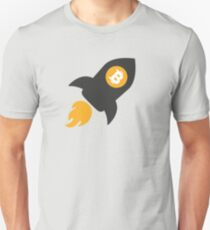 Bitcoin Rocket Unisex T-Shirt