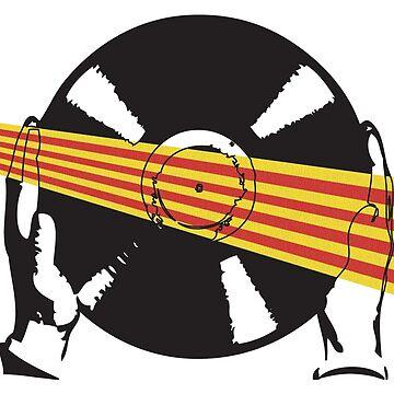 Catalan Flag Vinyl by McFrys