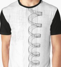 spiral stairway, white and  black Graphic T-Shirt