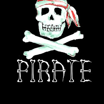 Pirate Skull and Crossbones Jolly Roger by LarkDesigns