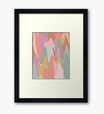 Abstract Mountains Painting Framed Print