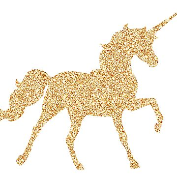 Gold Glitter Unicorn by MesmericSkyline