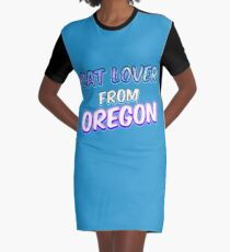 Dog Lover From Oregon Graphic T-Shirt Dress