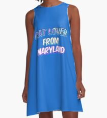 Dog Lover From Maryland A-Line Dress