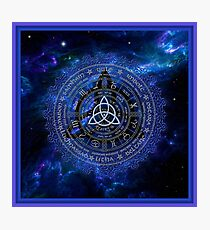 Pagan Calendar Wheel  Photographic Print