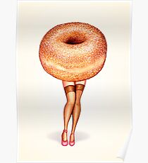 Donut Pin-Up Poster