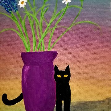 Kitten and Flowers by Energykotash