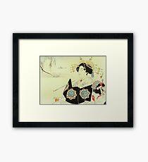 Mizuno Toshikata - Courtesan and Maid Framed Print