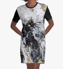 Smoke Graphic T-Shirt Dress