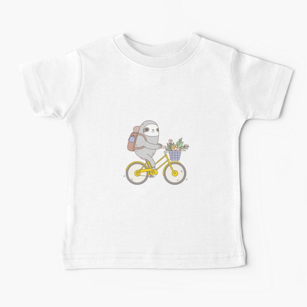 Biking Sloth  Baby T-Shirt