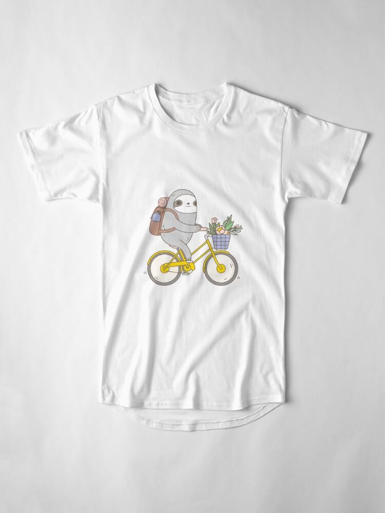 Alternate view of Biking Sloth  Long T-Shirt