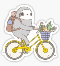 Biking Sloth  Sticker