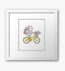 Biking Sloth  Framed Print