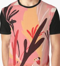 Colorful Landscape with a Girl Graphic T-Shirt