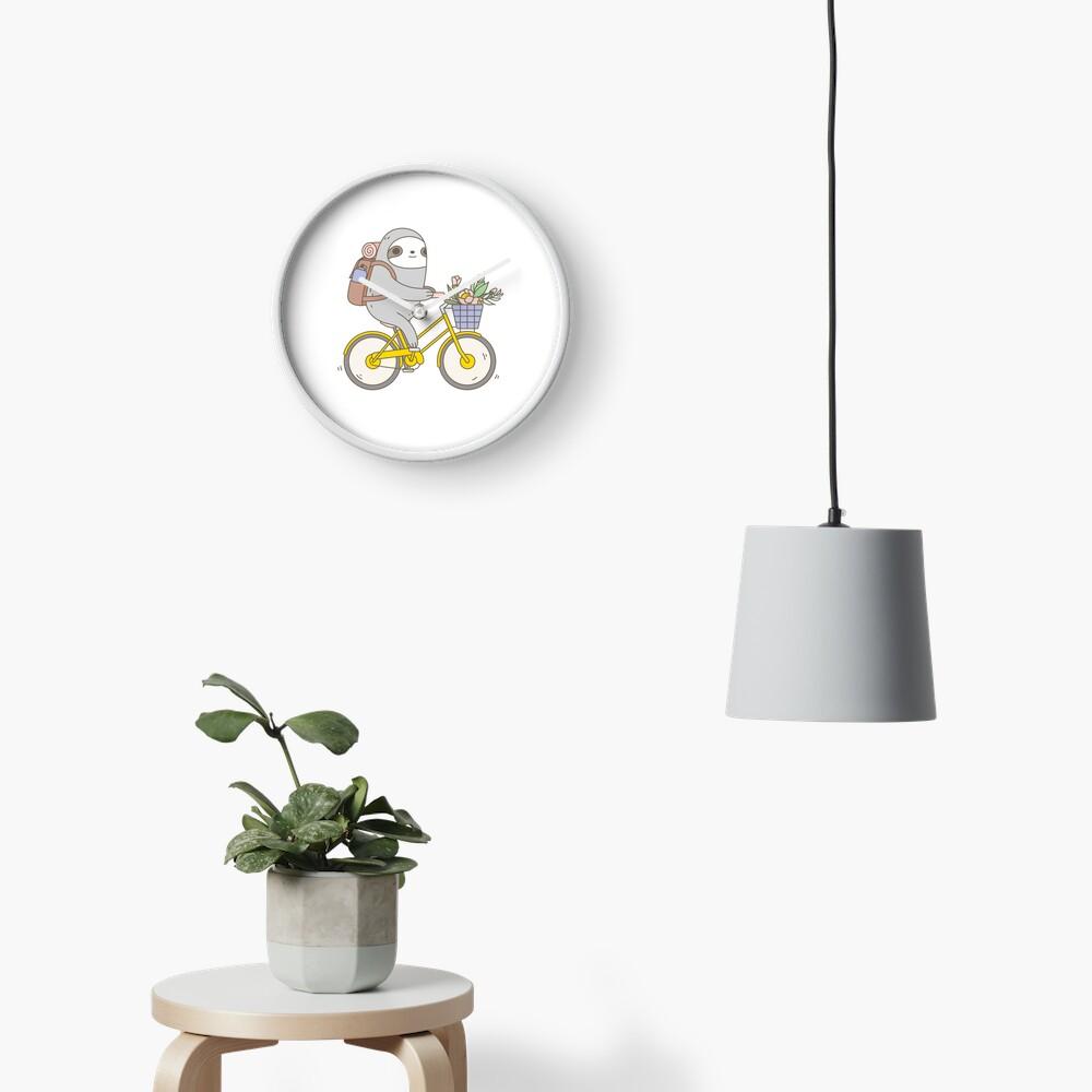 Biking Sloth  Clock