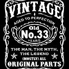 Vintage Aged To Perfection 33 Years Old by wantneedlove