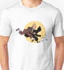 Tintin on the run Unisex T-Shirt