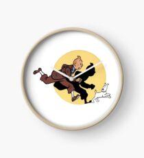 Tintin on the run Clock