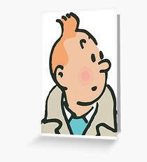 Tintin face Greeting Card