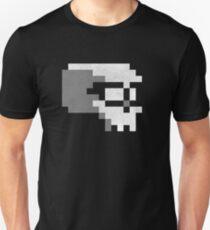 Nerdy Skull Pixel 8-bit T-shirt Unisex T-Shirt