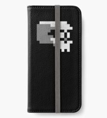 Nerdy Skull Pixel 8-bit T-shirt iPhone Wallet/Case/Skin
