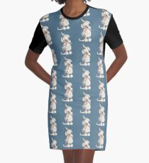 Golden Retriever With Ice Cream And Unicorn Toy Graphic T-Shirt Dress