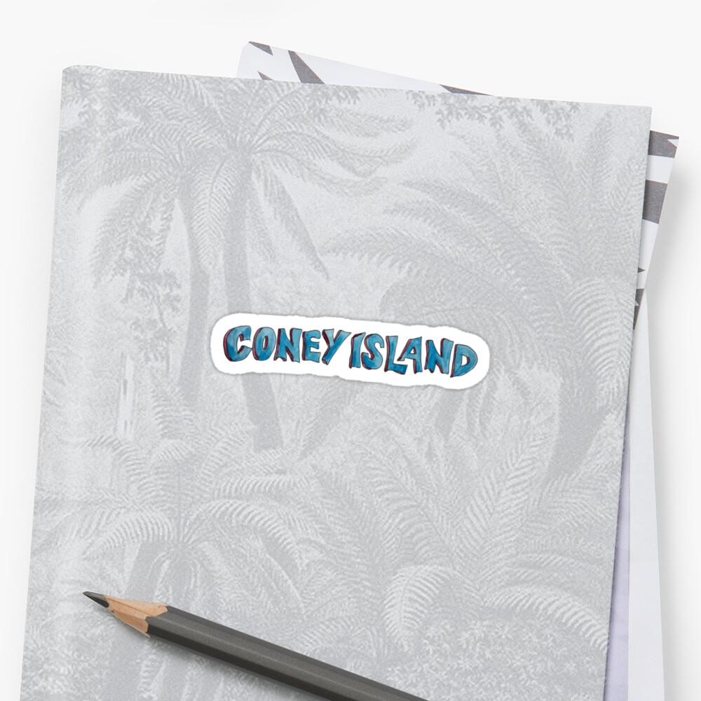 Coney Island NYC lettering Sticker