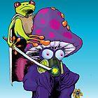 Katana Frog and Fun-Guy by JohnZDesigns