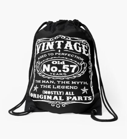 Vintage Aged To Perfection 57 Years Old Drawstring Bag