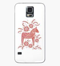 Schwedische Dala Horse Volkskunst Hülle & Klebefolie für Samsung Galaxy