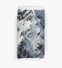 Sunny Snowy Mountain With Blue Sky Duvet Cover