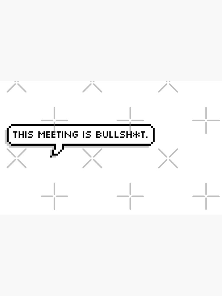 This Meeting is Bullsh*t by grantsewell
