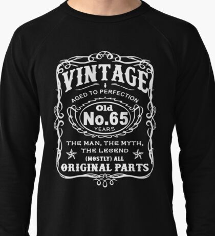 Vintage Aged To Perfection 65 Years Old Lightweight Sweatshirt