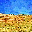 Borrello: agricultural landscape with hay bales by Giuseppe Cocco