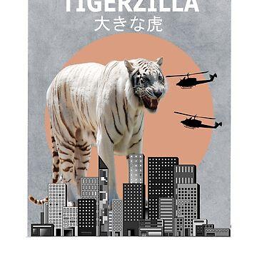 Tigerzilla Tiger Funny T-Shirt Animal Gift by Ducky1000
