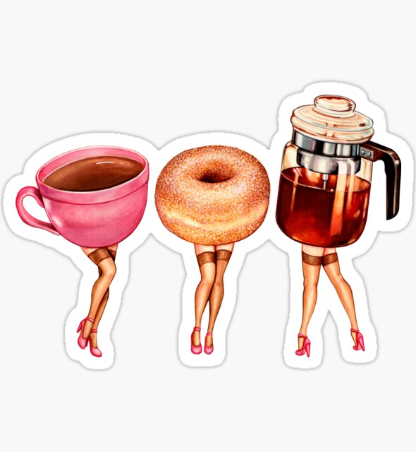 Coffee Pin-Ups Sticker