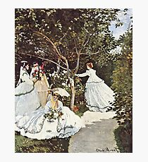 HD. Women in the garden, by Claude Monet. HIGH DEFINITION  Photographic Print