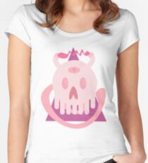 skull cerdito Women's Fitted Scoop T-Shirt