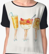 Breakfast Pin-Ups Chiffon Top