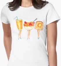 Breakfast Pin-Ups Women's Fitted T-Shirt