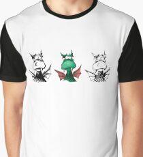 confused Dragons Grafik T-Shirt
