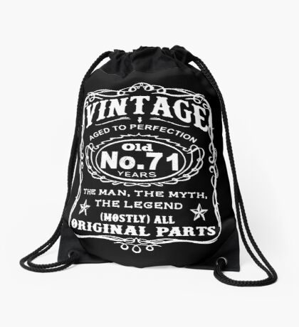 Vintage Aged To Perfection 71 Years Old Drawstring Bag